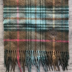 Harrods 100% lambswool plaid scarf